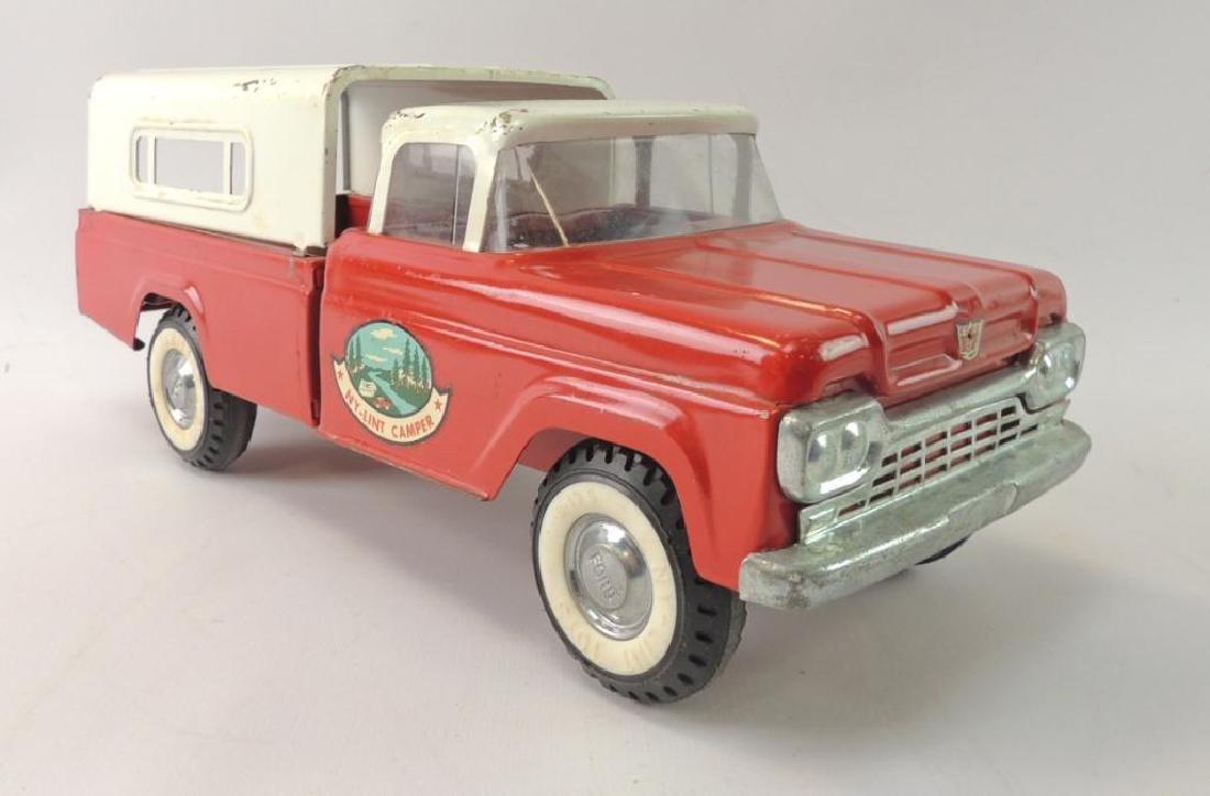 Vintage Nylint #4400 Ford Camper Pressed Steel Pick-Up