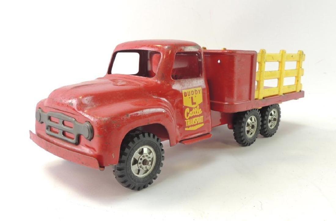 Vintage Buddy L Pressed Steel Cattle Transport Truck
