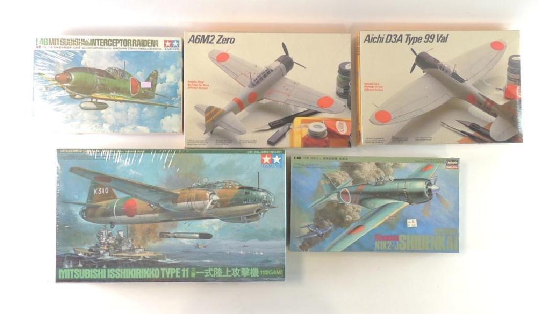 Group of 5 WW2 Japanese Aero plane Sealed Model Kits