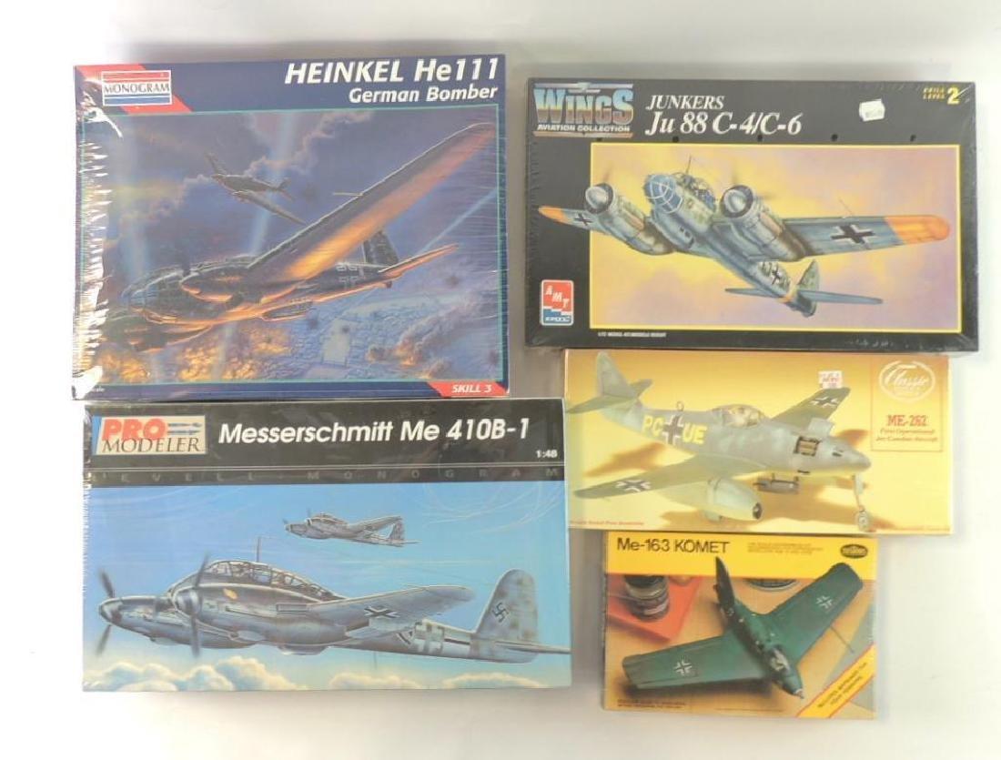 Group of 5 WW2 German Aero plane Sealed Model Kits
