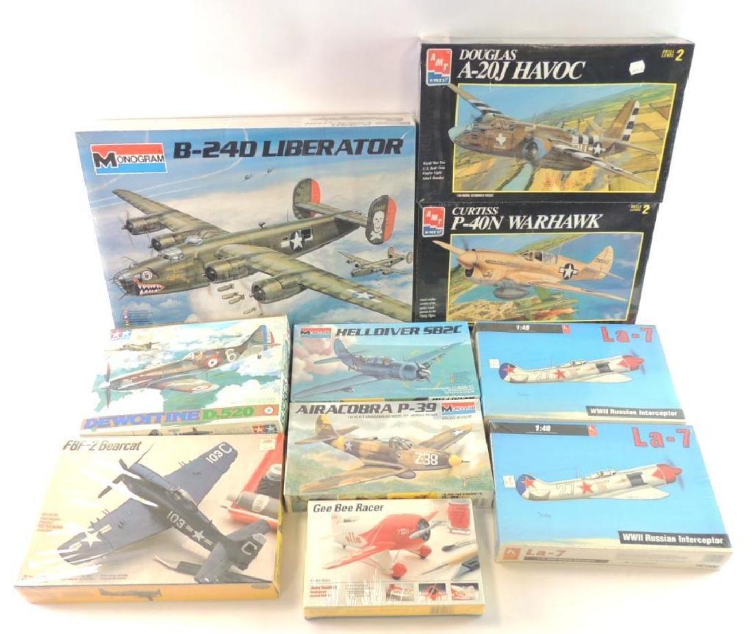 Group of 12 WW2 U.S. Aero plane Model Kits