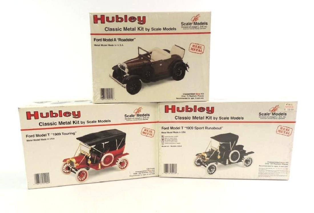 Group Of 3 JLE/Hubley Die-Cast Model Car Kits