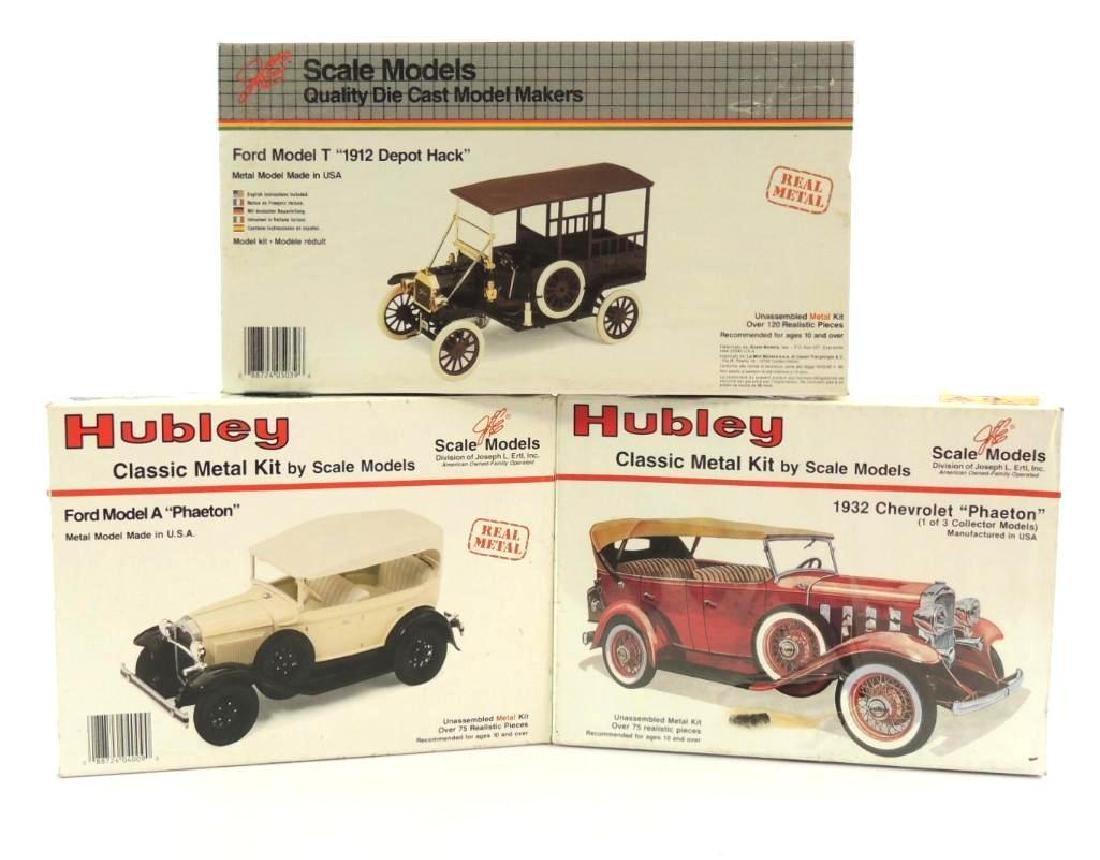 Group Of 3 JLE/Hubley Die-Cast Model Car Kits