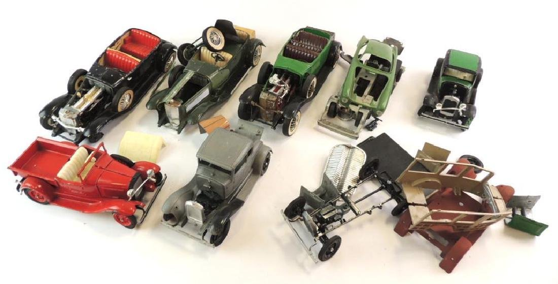 Group Of 8 Various Die-Cast Model Cars For Parts