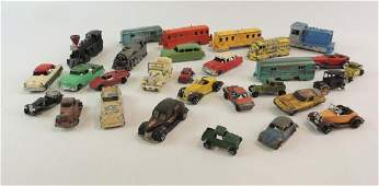 Group Of 29 Vintage Toy Cars And Trains
