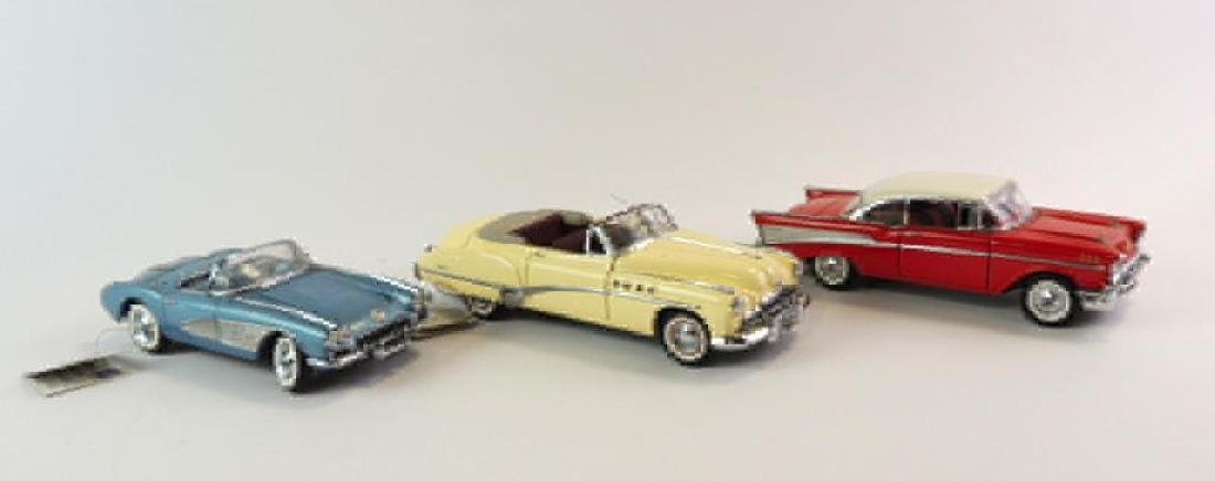 Group Of 3 Franklin Mint Die-Cast Cars