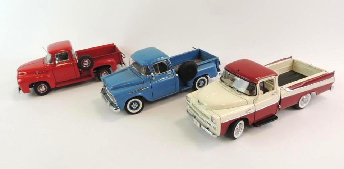 Group Of 3 Danbury Mint Die-Cast Trucks