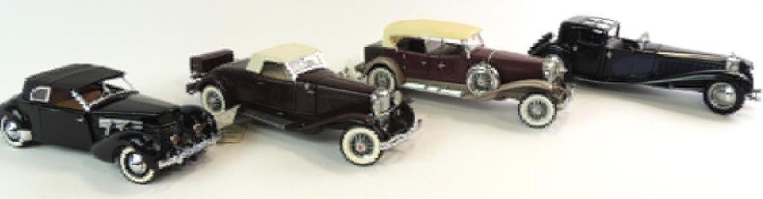 Group Of 4 Franklin Mint Die-Cast Cars