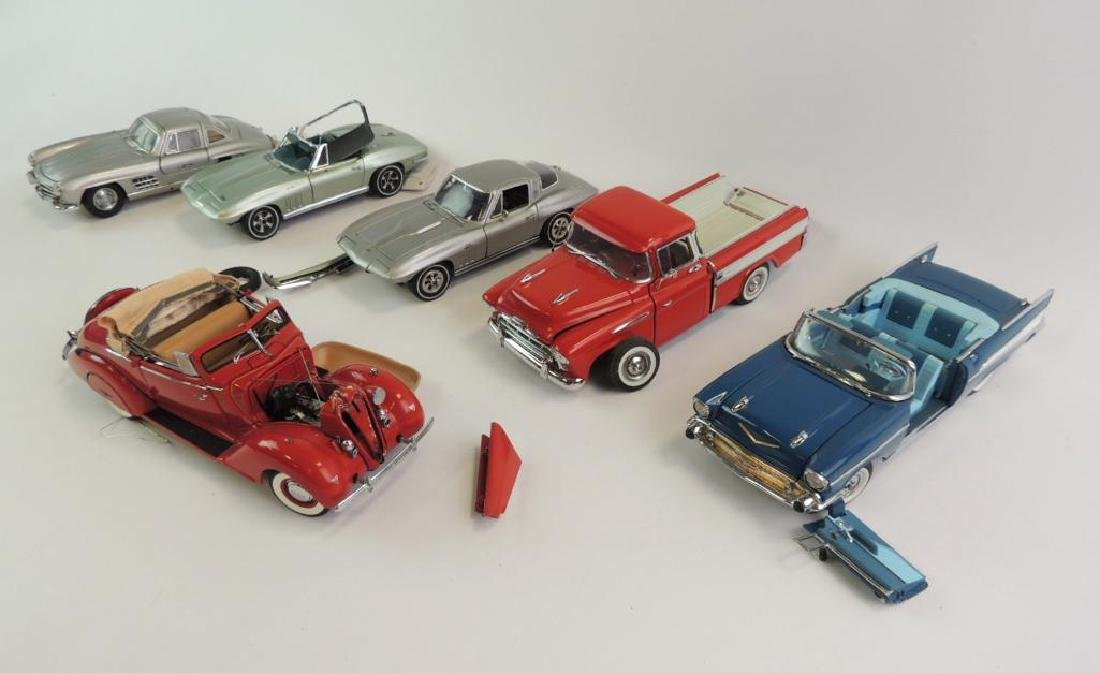 Group Of 5 Franklin Mint 1 Danbury Mint Die-Cast Cars