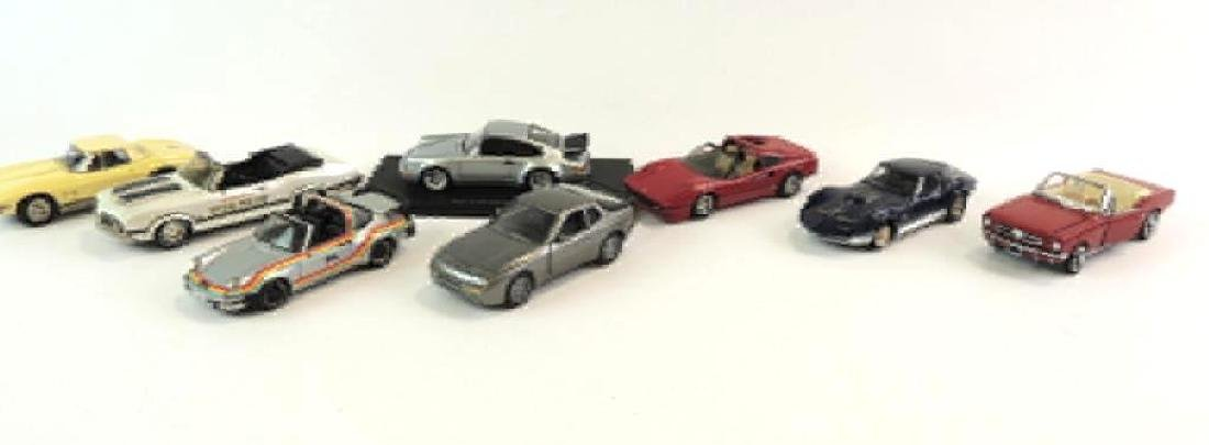 Group Of 8 Die-Cast Cars Featuring 1965 Corvette Mako