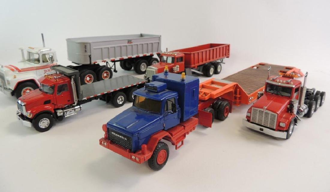 Group Of 6 Tractor-Trailer Semi Featuring First Gear