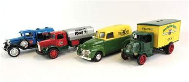 Group Of 4 Die-Cast Advertising Coin Bank Cars