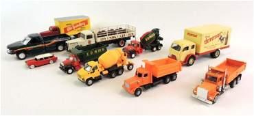 Group Of 11 Die-Cast/ Plastic Advertising Trucks