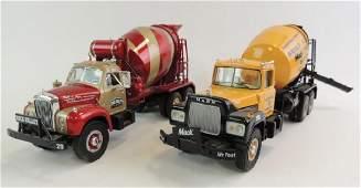 Group Of 2 First Gear Die-Cast Cement Trucks