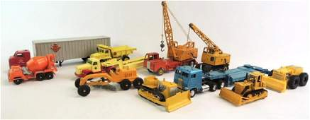 Group Of 11 Die-Cast And Plastic Dinky, Tekno, Tootsie