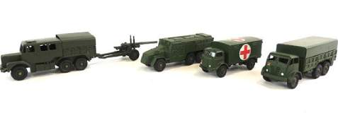 Group Of 4 Die-Cast Dinky Toy Military Vehicles