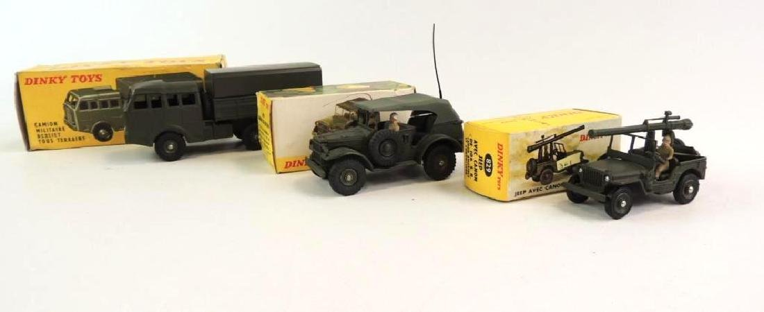 Group Of 3 Die-Cast Dinky Toy Military Vehicles