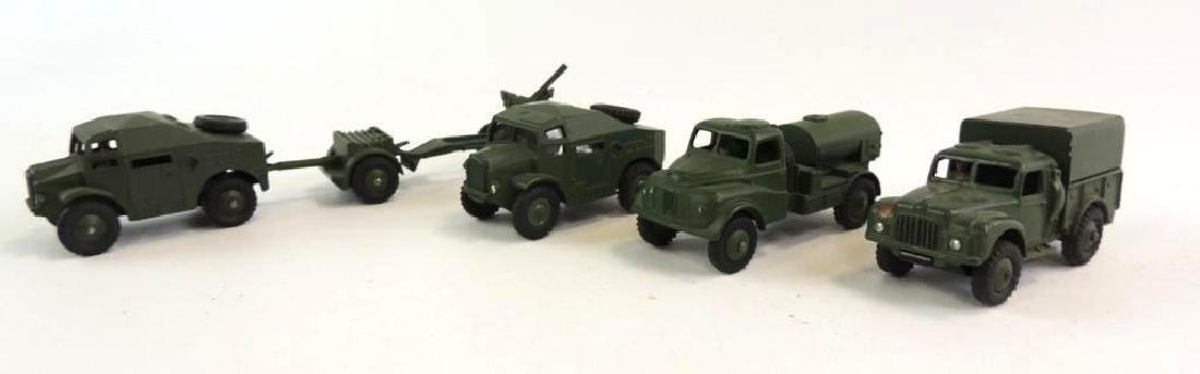 Group Of 4 Die-Cast Dinky Military Artillery Vehicles