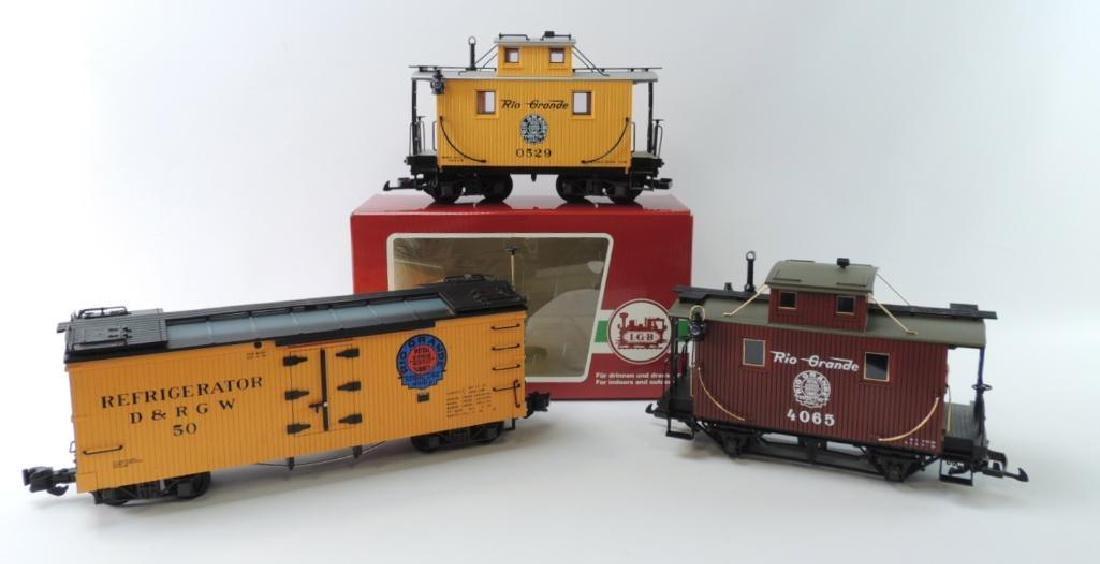 Group Of 3 LGB Trains Denver & Rio Grande Western