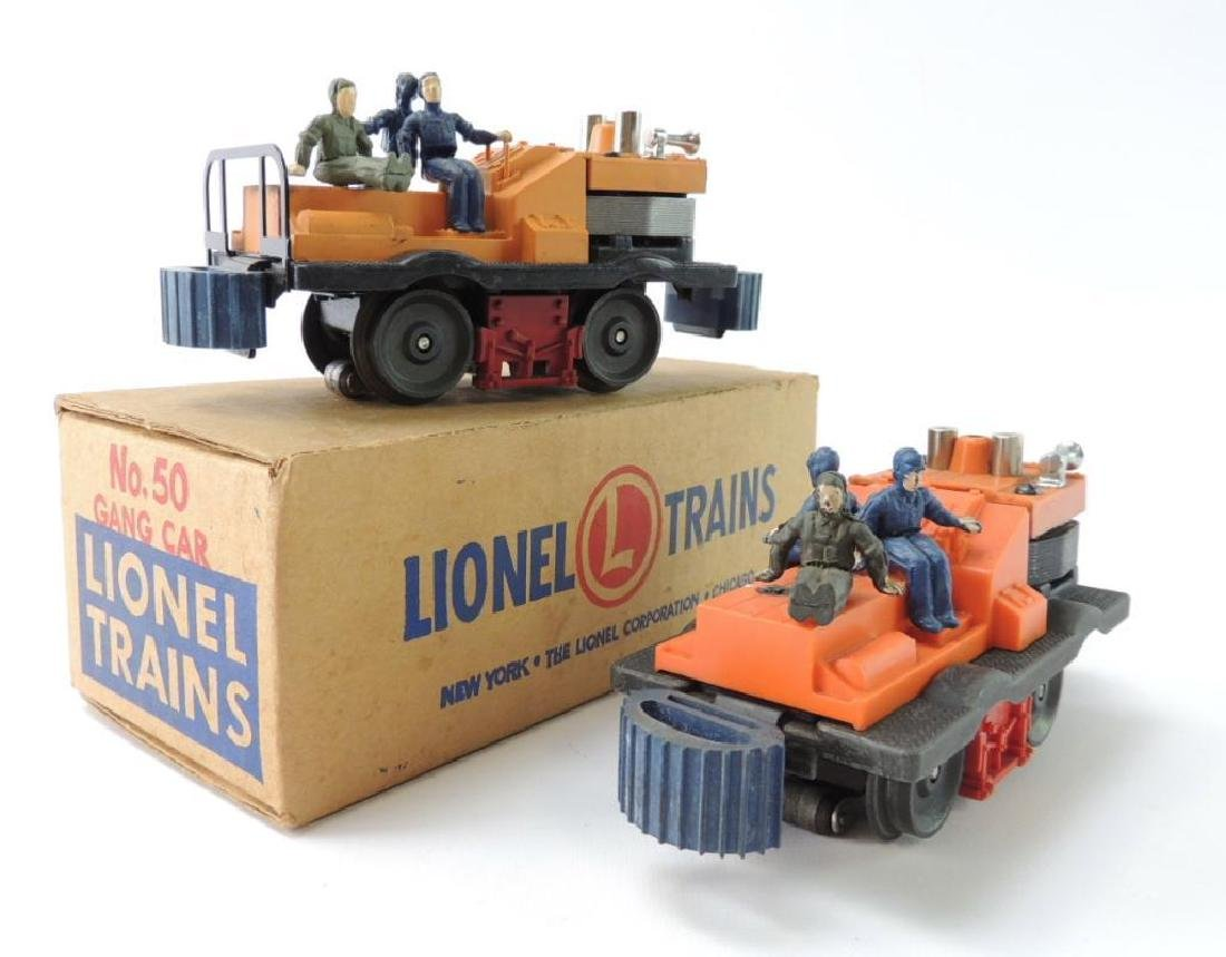 Group Of 2 Vintage Lionel O-Scale Trains # 50 Gang Cars
