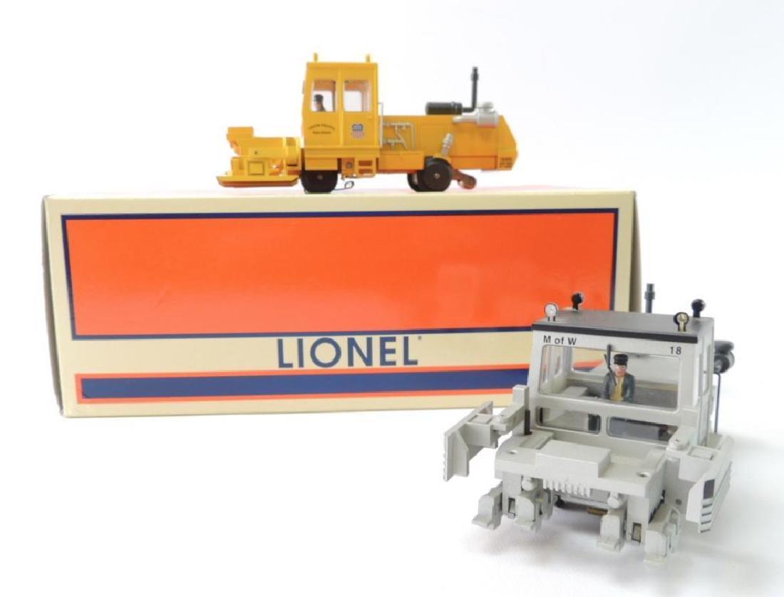 Group Of 2 Lionel O-Scale Union Pacific Ballast Tamper