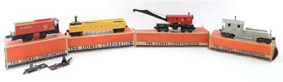 Group Of 4 Vintage Lionel O-Scale Train Cars with