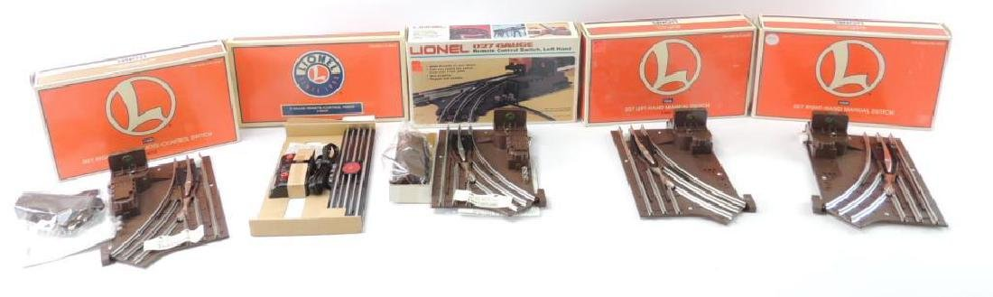 Group Of 5 Lionel Trains O-Gauge Track Switches, Brand