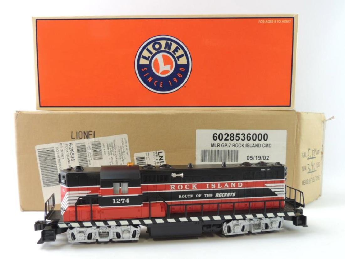 Lionel Trains O-Scale GP-7 Rock Island Locomotive With