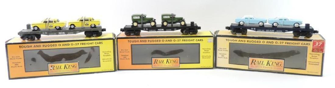 Group Of 3 Rail King By MTH Trains O-Scale Freight