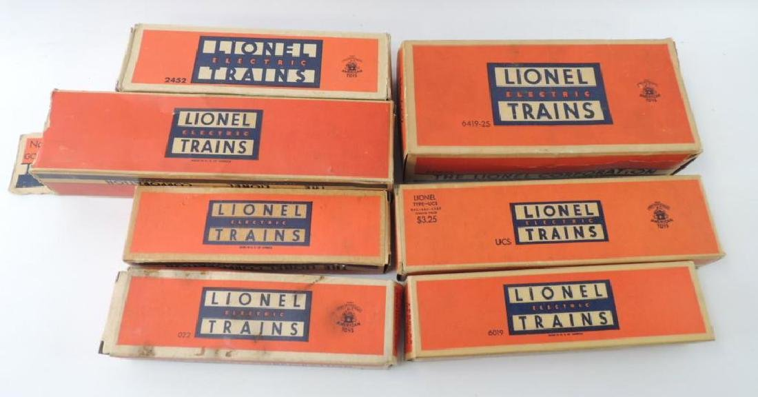 Group Of 7 Vintage Lionel Trains Boxes ONLY