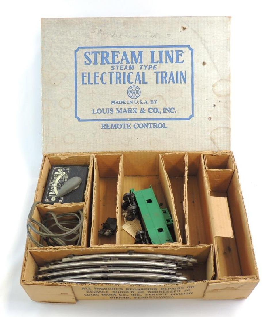 Vintage Marx Stream Line Train Box with Transformer,