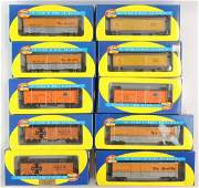 Group of 10 Athearn HO Scale Train Cars with Original
