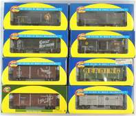 Group of 8 Athean HO Scale Train Cars with Original