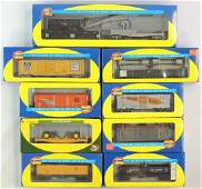 Group of 9 Athearn HO Scale Train Cars with Original