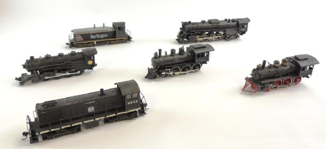 Group of 6 Vintage HO Scale Steam Locomotives