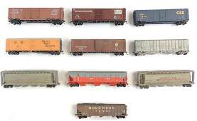 Group of 10 HO Scale Train Cars