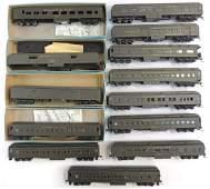Group of 13 HO Scale Santa Fe Passenger Train Cars