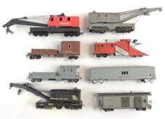 Group of 8 HO Scale Construction Train Cars