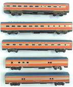 Group of 5 HO Scale Pullman Passenger Cars