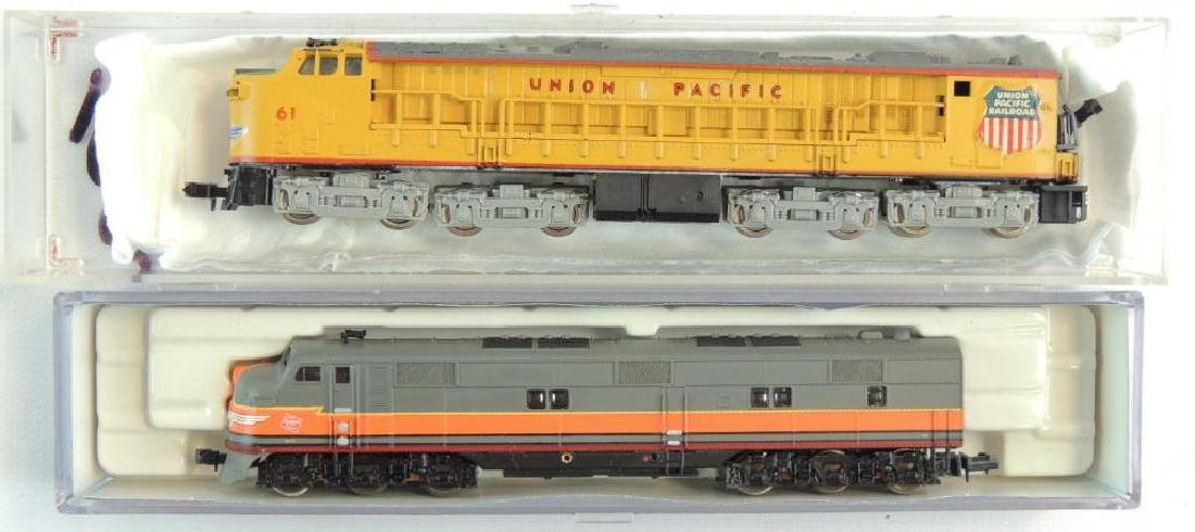 Group of 2 N Scale Diesel Locomotive with Original