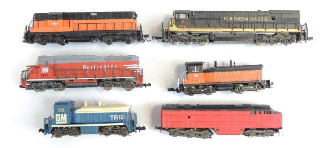 Group of 6 Atlas and Life Like Diesel Locomotives and