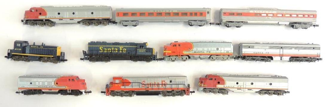 Group of 10 Atlas Santa Fe Diesel Locomotives