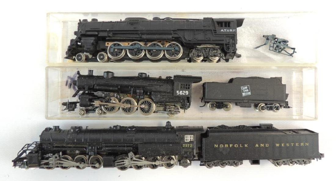 Group of 3 N Scale Steam Locomotive