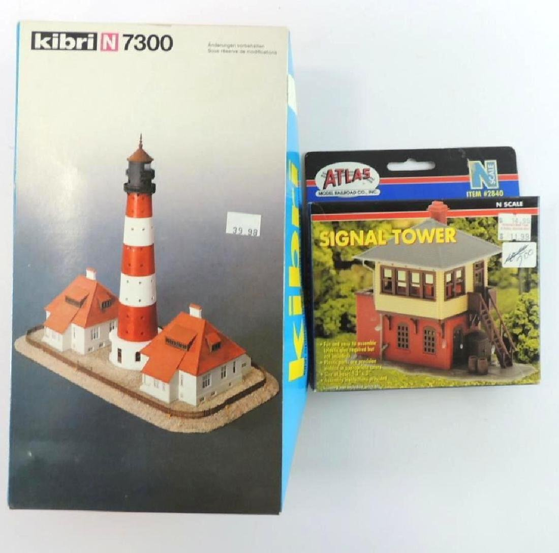 Group Of 2 N-Scale Model Light House And More