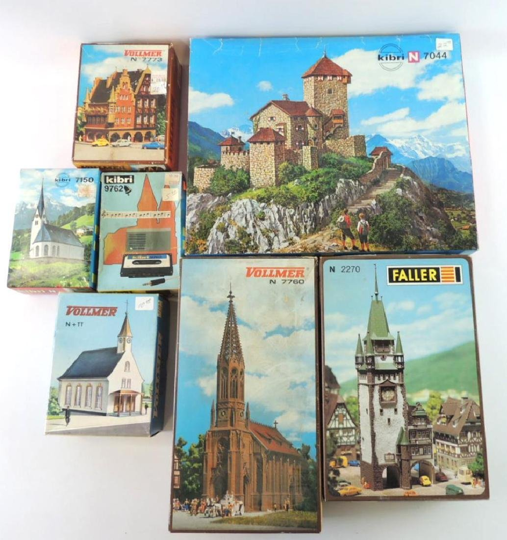 Group Of 7 N-Scale Model Churches And More