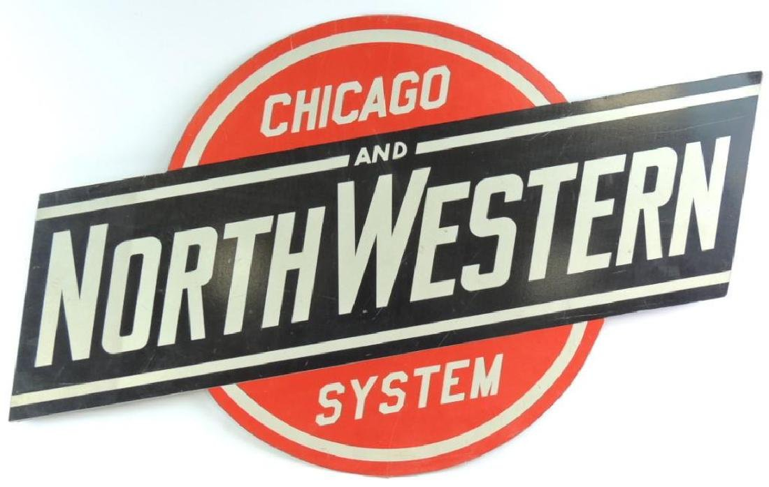 Chicago and North Western Systems Metal Sign