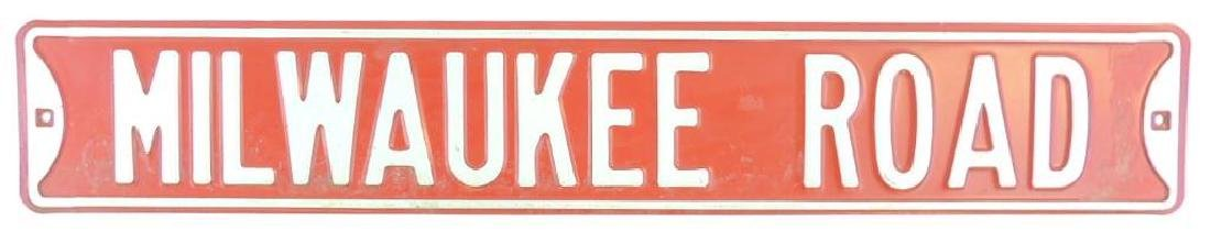 Milwaukee Road Metal Sign