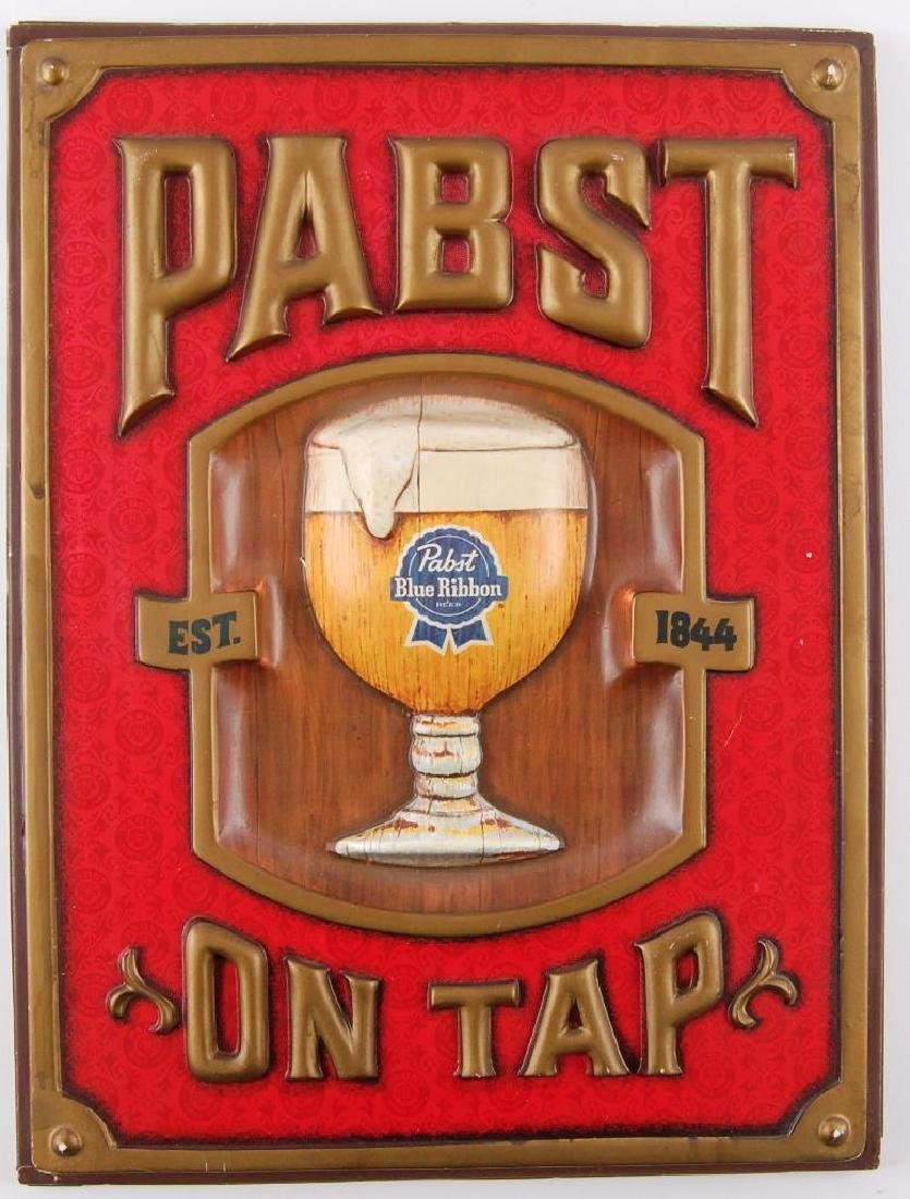Vintage Pabst Blue Ribbon Advertising Beer Sign
