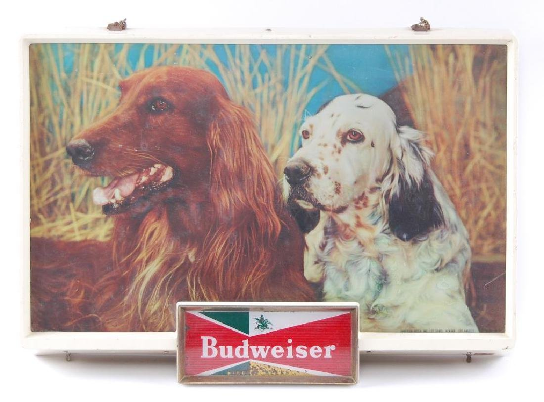 Vintage Budweiser Light Up Advertising Beer Sign