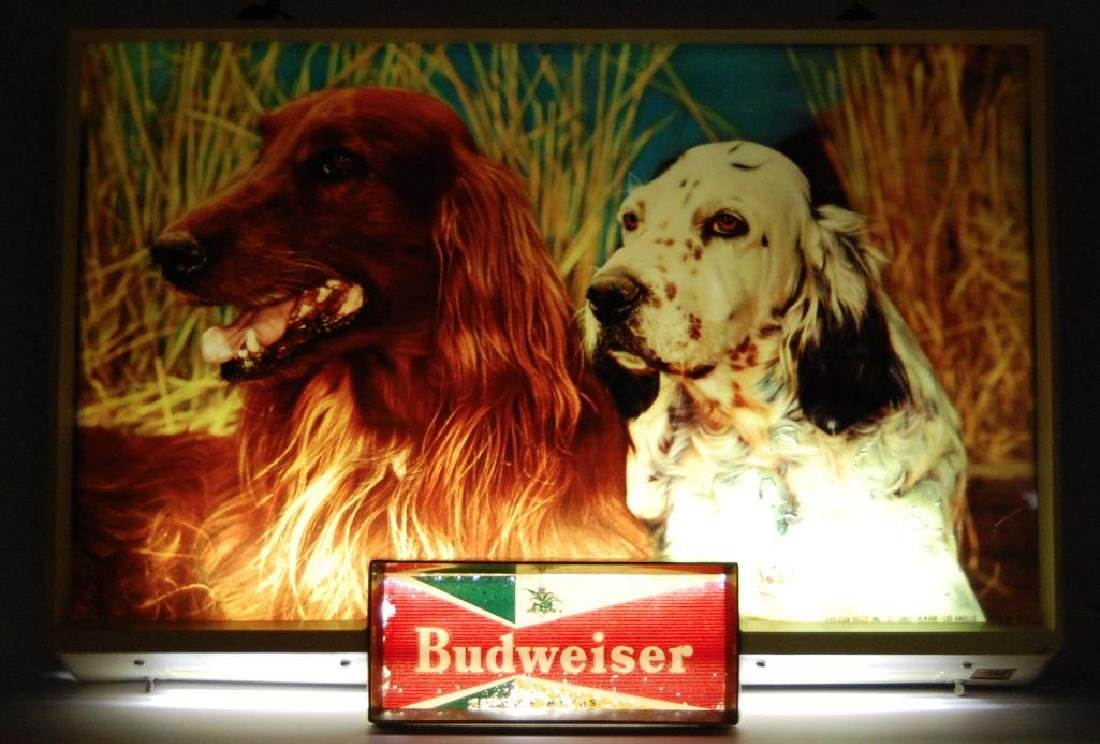 Vintage Budweiser Light Up Advertising Beer Sign - 2